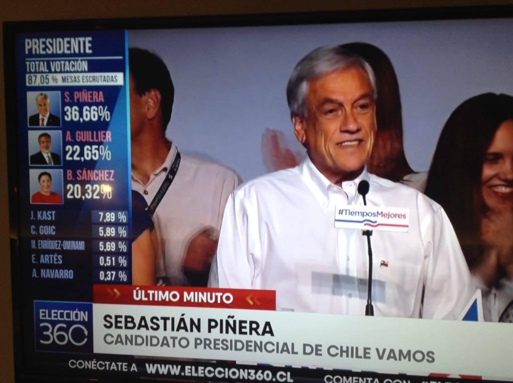 CHILE, A SEGUNDA VUELTA EN ELECCIONES PRESIDENCIALES