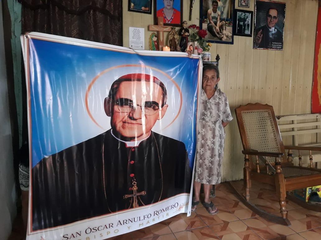 """Photo of """"Monseñor era sencillo"""" Gilma Rivas"""