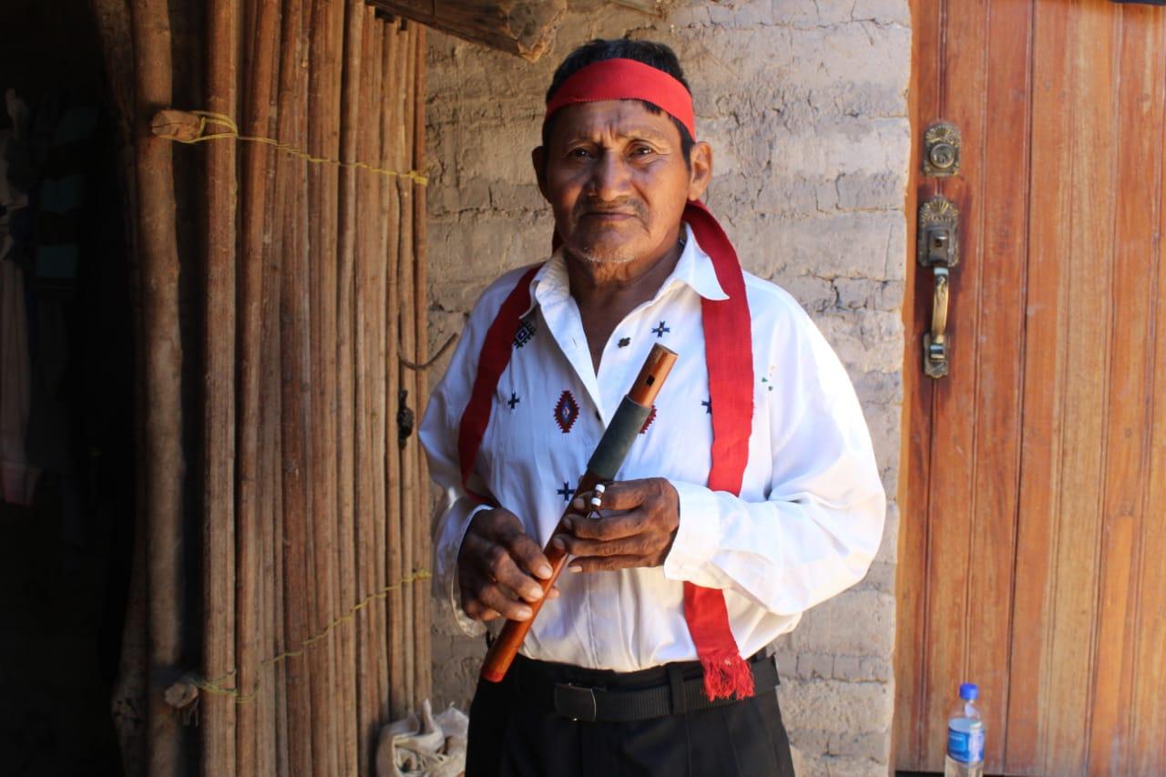 """Photo of Daniel, el danzante del """"baile de los Negritos"""" de Guatajiagua"""