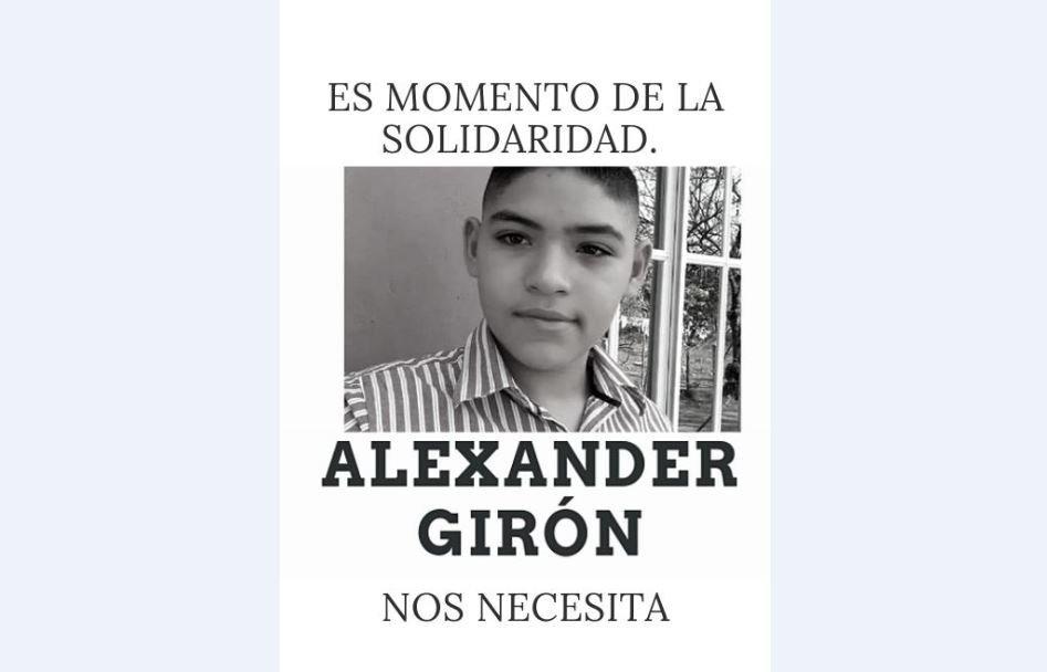 Comunicadores solicitan apoyo económico para Alexander Girón