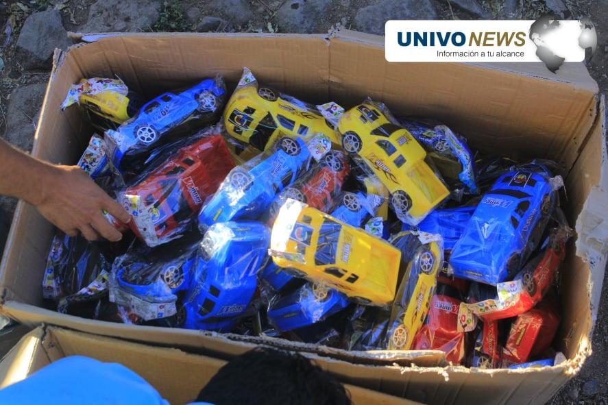 Niños de caserío Los Cimientos recibieron juguetes