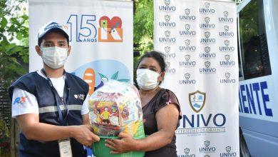 Photo of Fundación Gloria de Kriete y UNIVO entregaron más de 2, 100 canastas